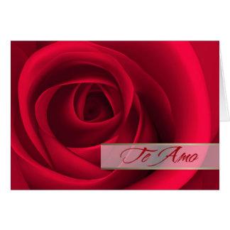 Te Amo. Spanish Valentine's Day Card