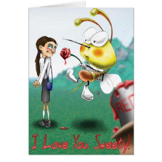 ¡Te amo sweety! Tarjeta de felicitación