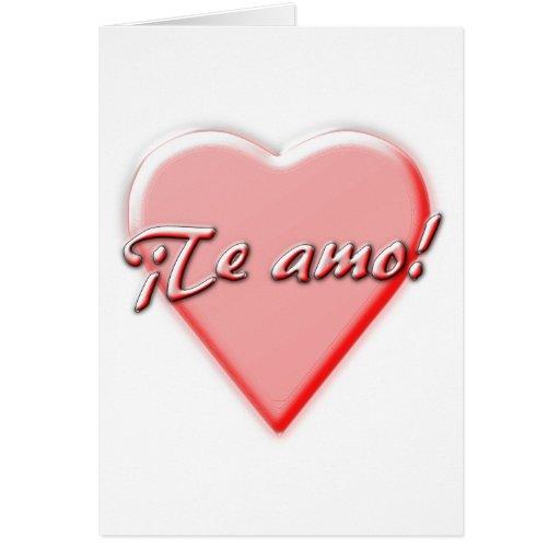 Te amo tarjeta