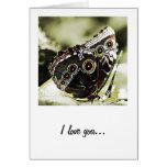 Te amo tarjeta de felicitación de la mariposa