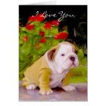 Te amo tarjeta de felicitación del arte del perrit