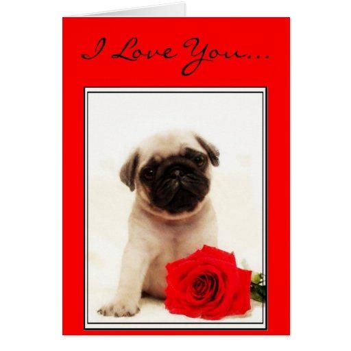 Te amo tarjeta de felicitación del perrito del bar