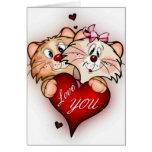 Te amo tarjeta de imagen