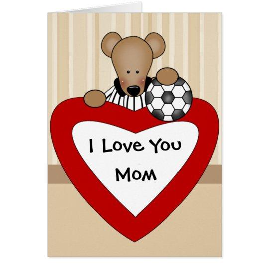 Te amo tarjeta de la mamá