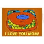 ¡TE AMO tarjeta de la MAMÁ!