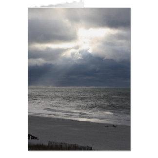 TE AMO tarjeta de la playa