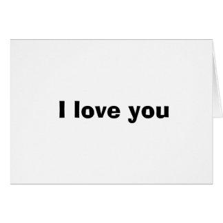 Te amo tarjeta de nota