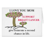 TE AMO tarjeta del cáncer de pecho de la MAMÁ