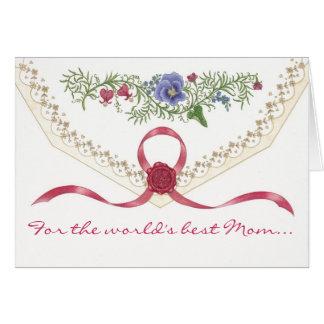 """""""Te amo, tarjeta del día de madre de la mamá"""""""
