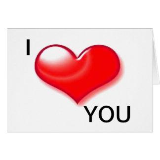 Te amo tarjeta del día de San Valentín del corazón