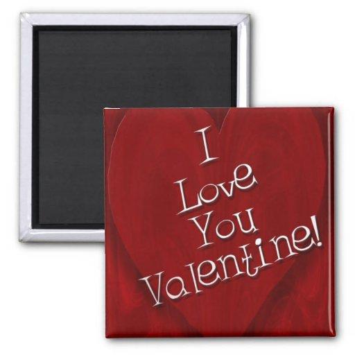 Te amo tarjeta del día de San Valentín Iman De Nevera