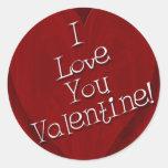 Te amo tarjeta del día de San Valentín Pegatina Redonda
