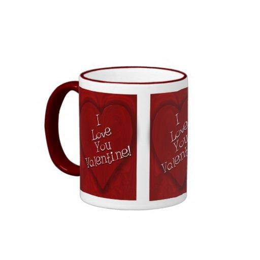 Te amo tarjeta del día de San Valentín Taza De Café
