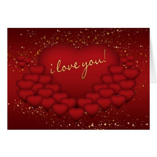 Te amo tarjeta del el día de San Valentín - efecto