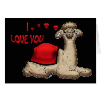 Te amo tarjeta linda del el día de San Valentín de