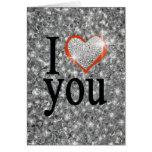 Te amo tarjeta pequeña