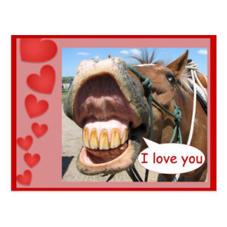 Te amo tarjeta postal