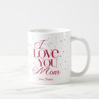 Te amo taza $20,95 de la mamá