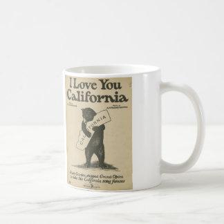 Te amo taza de California