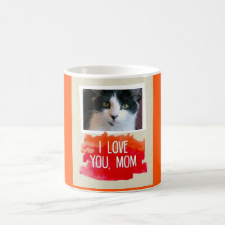 Te amo taza de encargo de la foto del gato de la