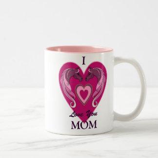Te amo taza del tono de la mamá dos