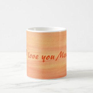 Te amo tazas amarillo-naranja mezcladas de la mamá
