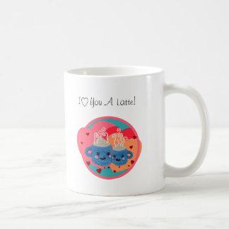 Te amo tazas del latte de un snuggle del kawaii -