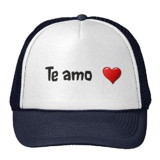 Te amo - Te amo en español Gorro