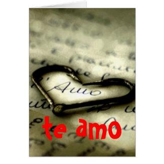 te amo, te amo tarjeta de felicitación