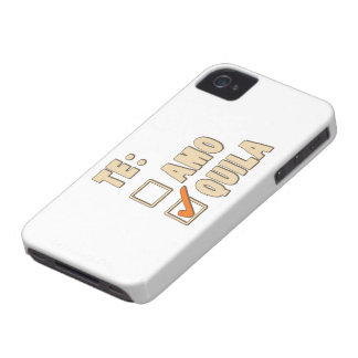 Te Amo Tequila Spanish Choice iPhone 4 Case-Mate Cases