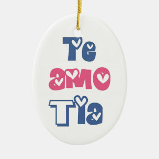 Te Amo Tia Ceramic Ornament
