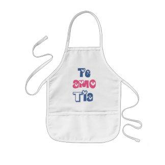 Te Amo Tia Kids' Apron
