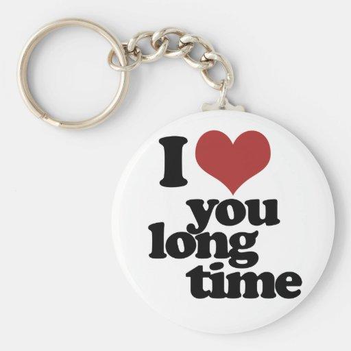 Te amo tiempo largo llavero