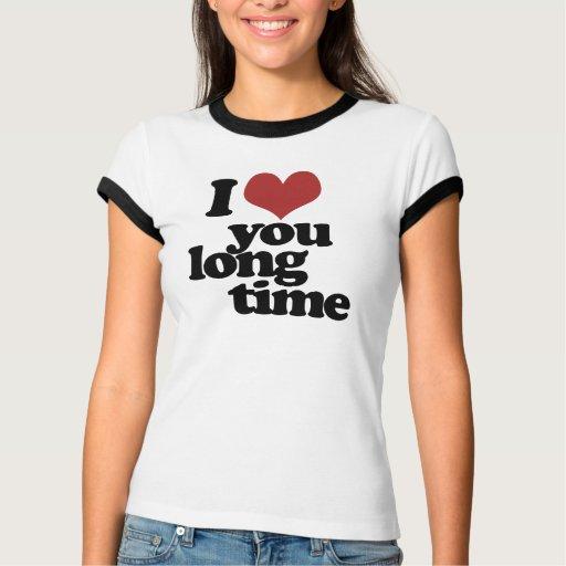 Te amo tiempo largo remera