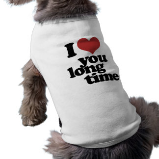 Te amo tiempo largo camisetas de perro