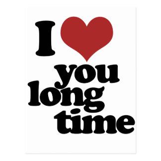 Te amo tiempo largo postal