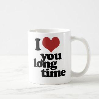 Te amo tiempo largo taza clásica
