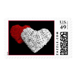 """""""Te amo"""" tiras de papel Sello"""