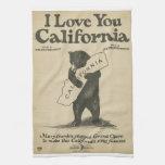 Te amo toalla de California