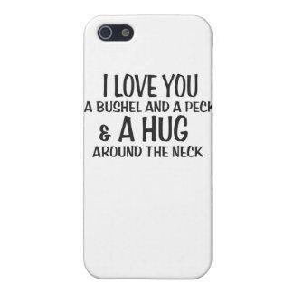 Te amo un celemín y un peck y un abrazo alrededor  iPhone 5 funda