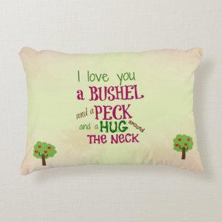 Te amo un celemín y una almohada del peck cojín