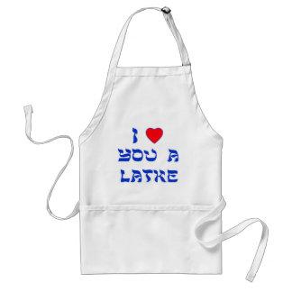 Te amo un Latke Delantal