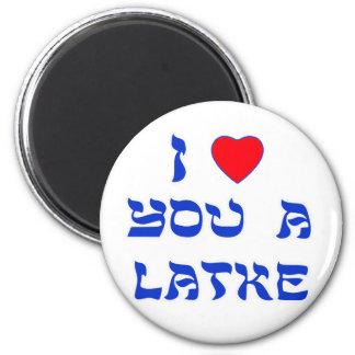 Te amo un Latke Imán Redondo 5 Cm