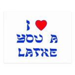 Te amo un Latke Postales