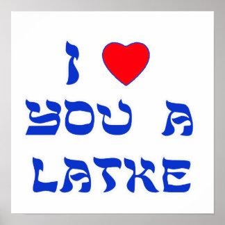 Te amo un Latke Póster