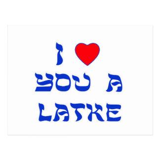 Te amo un Latke Tarjeta Postal