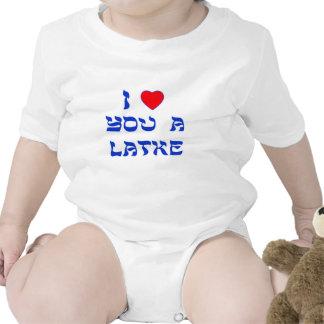 Te amo un Latke Traje De Bebé