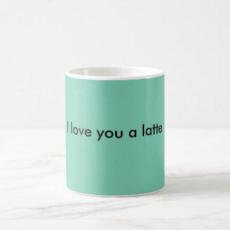 Te amo un latte tazas de café