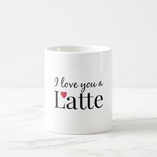 Te amo un latte taza