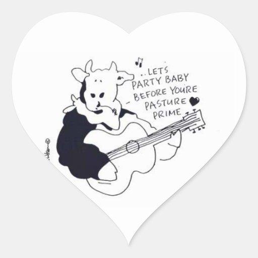 Te amo, una amiga o un novio pegatina de corazon personalizadas